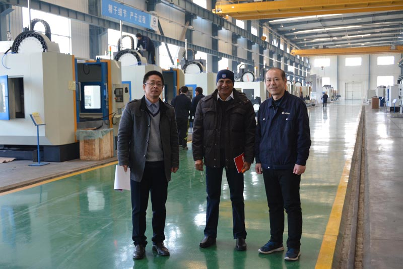 India customer visit our factory